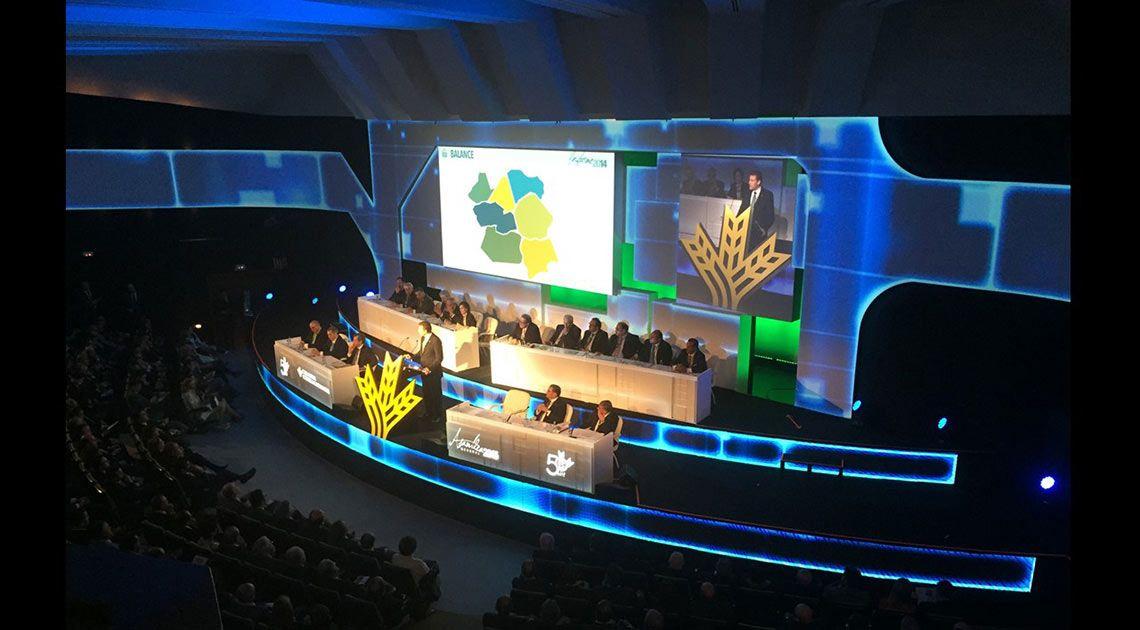 Escenario Asamblea general 2015 Caja Rural Castilla La mancha