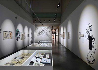 la Exposición L'Esclat dels clasics en Valencia. Vinilos de corte