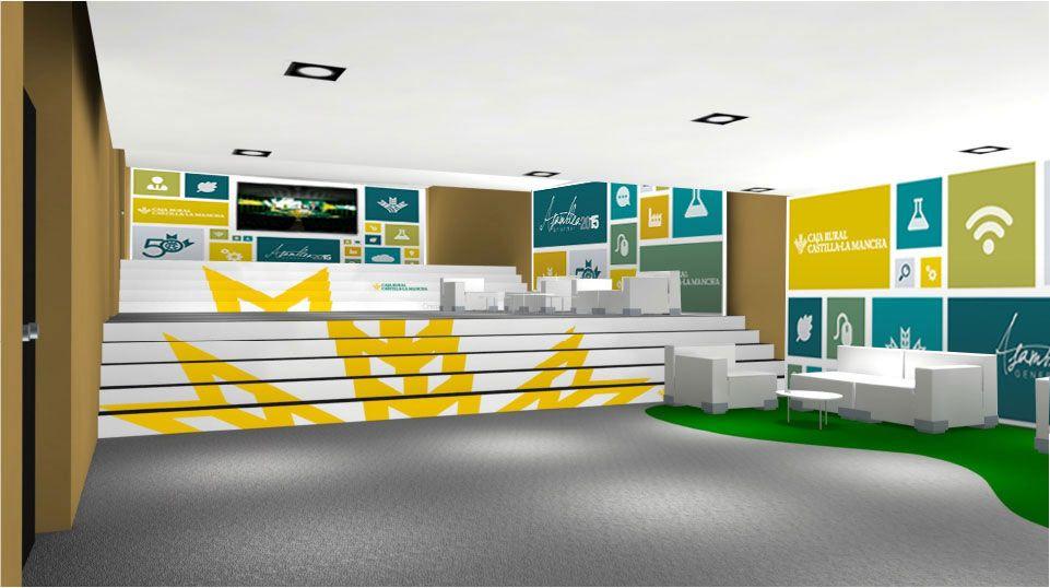 Diseño de hall Asamblea general 2015 Caja Rural Castilla La mancha