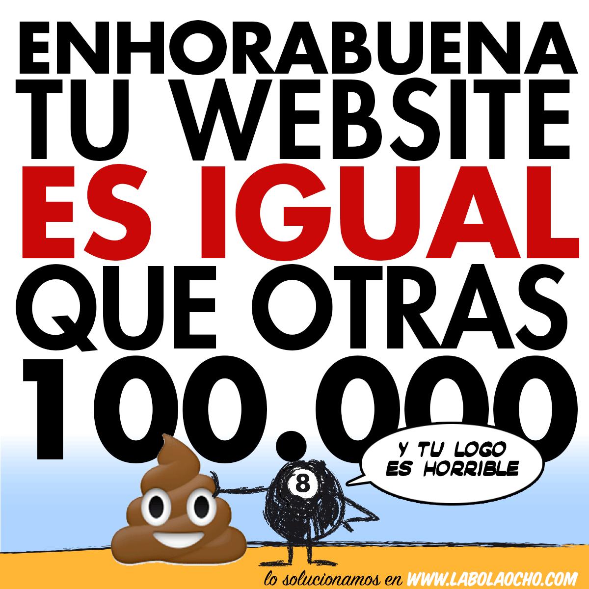 imagen tu website la bola ocho #LoSolucionamos