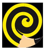 lapiz en espiral de la bola ocho