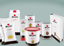 Productos de Sun de Japón. Comida preparada japonesa. Diseño de La Bola Ocho